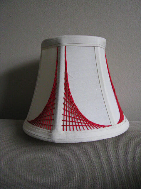 Small graphic lampshade