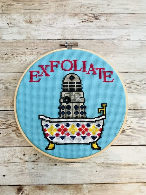 Iris Loves UK - Exfoliate Cross Stitch Kit