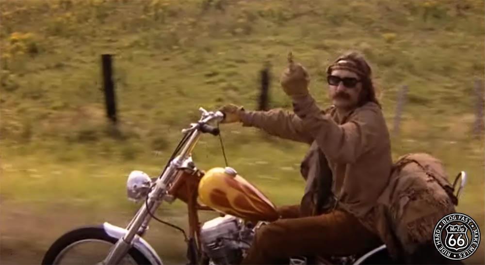 Easy Rider Dennis Hopper Flipping the Bird