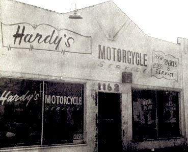 Ben Hardy's shop, back in the day - Builder of the Easy Rider Bikes