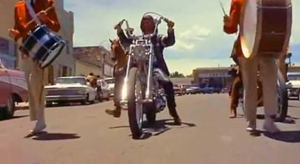 Easy Rider Parade Scene Las Vegas New Mexico 1
