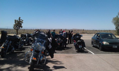 Rest stop,  Swapping bikes
