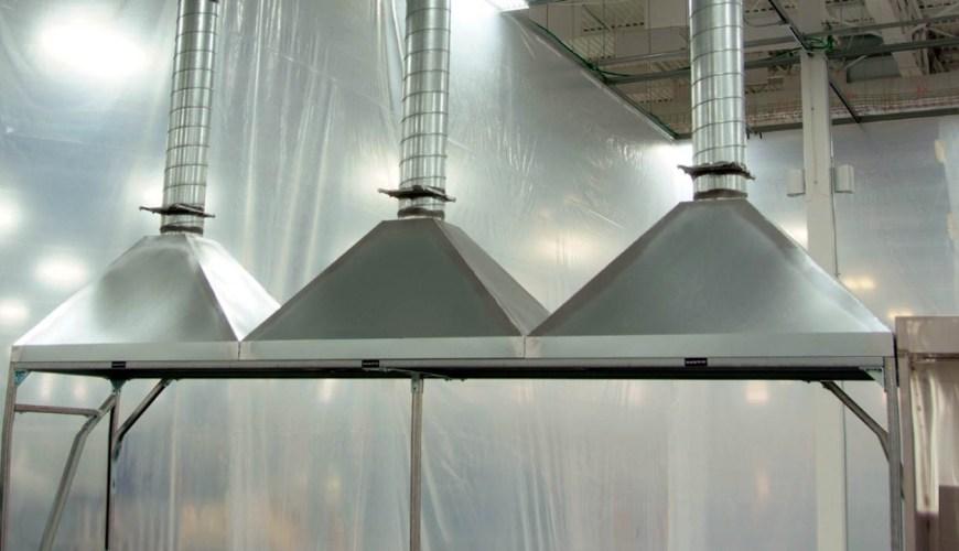 Campanas de extracción para la industria