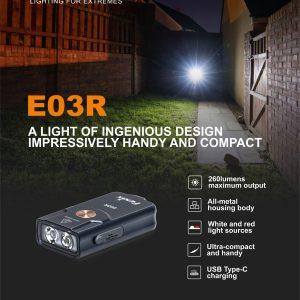 Fenix E03R Schlüsselanhänger Taschenlampe | Lampen | MS-Shooting