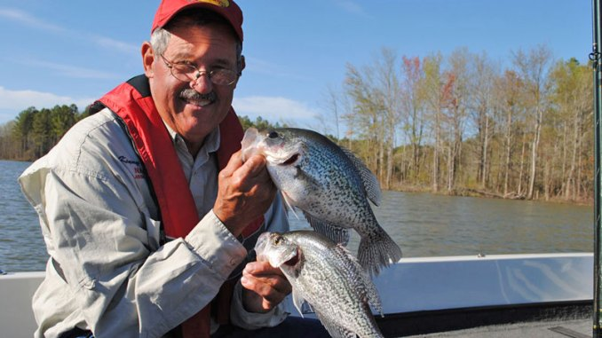 Anglers can really stack up crappie when they head to the banks for spawn by using a single rod.