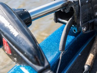 Louisiana's Tim Bye added a length of rubber tubing to protect his trolling motor pull rope.