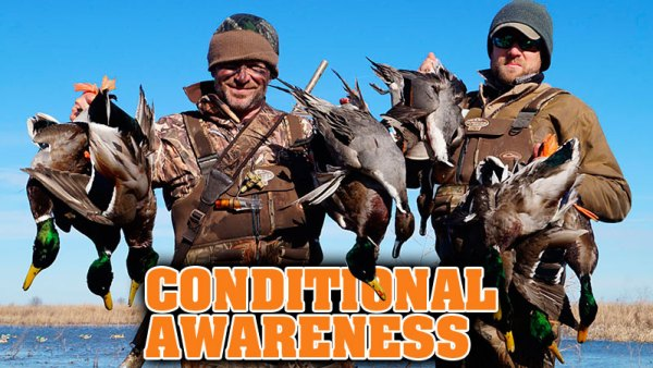 Conditional awareness — Learn when to duck hunt timber and when to hunt ag fields