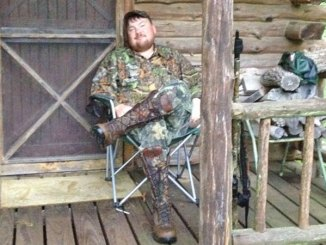 Sitting on the camp's front porch is just part of the club experience for Lincoln County hunter Shane McCullough. Joining a hunting club is a tradition for many Mississippi hunters.