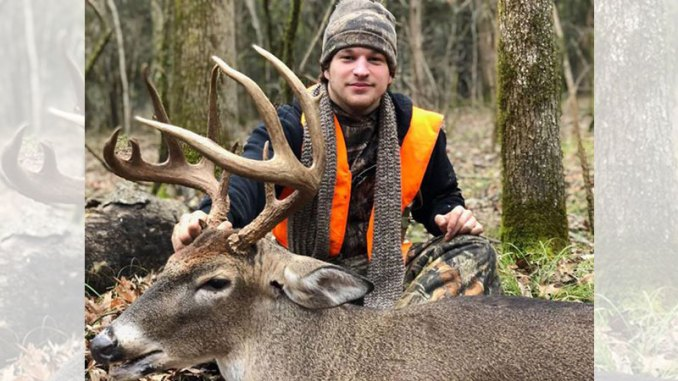 High school senior Isaac Buckner of Starkville took this 130-inch buck in Oktibbeha County. He was able to recover the deer with help from his brothers, Luke and Josiah.