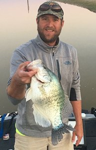 Jeremy Aldridge managed to get this 3½-pound crappie to the boat using some advanced preparation and skill.