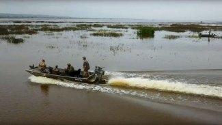 Early season teal hunt on Catahoula Lake in Louisiana