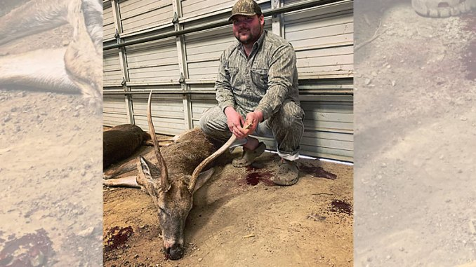 Dakoda Chisolm was hunting in Bolivar County on Dec. 5, 2019, when he killed this 3-point buck with 24-inch main beams and an 18-inch spread.