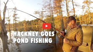 Greg Hackney goes pond fishing