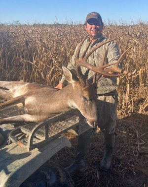 Cory Hart killed this 154-inch buck the first day of bow season.