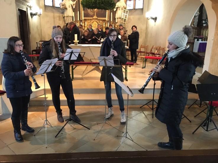 Klarinettenensemble beim Adventkonzert am 02.12.2017