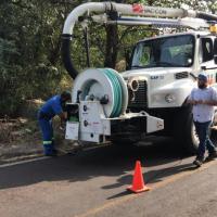 Gracias  a la solidaridad  del municipio de Uruapan  y de Capasu, Nuevo Urecho  soluciona graves problemas en su drenaje.