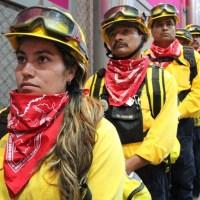 Enaltecen trabajo comprometido y valiente de combatientes del fuego forestal