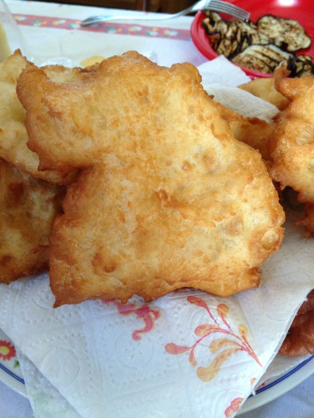 Pettole, fried golden dough