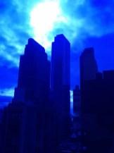 Spooky New York skyline