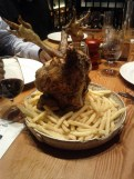 Upside down chicken at Tramshed