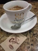 Espresso at Castroni in Rome