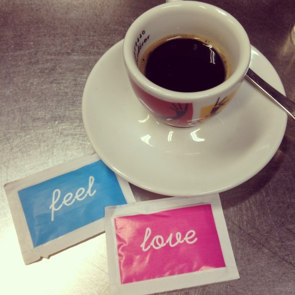 Feel. Love. Love these sugar packets from Illy. Italy.