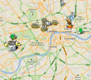 London Google Map screenshot by Sara Rosso