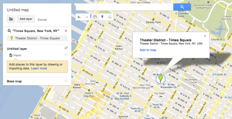 Google Map: newer interface