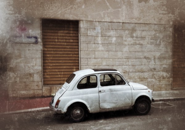 White Fiat 500 by Sara Rosso