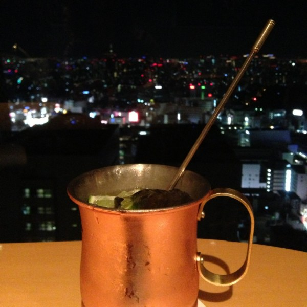 Farewell Moscow Mule overlooking Tokyo, Japan, by Sara Rosso at Ms. Adventures in Italy