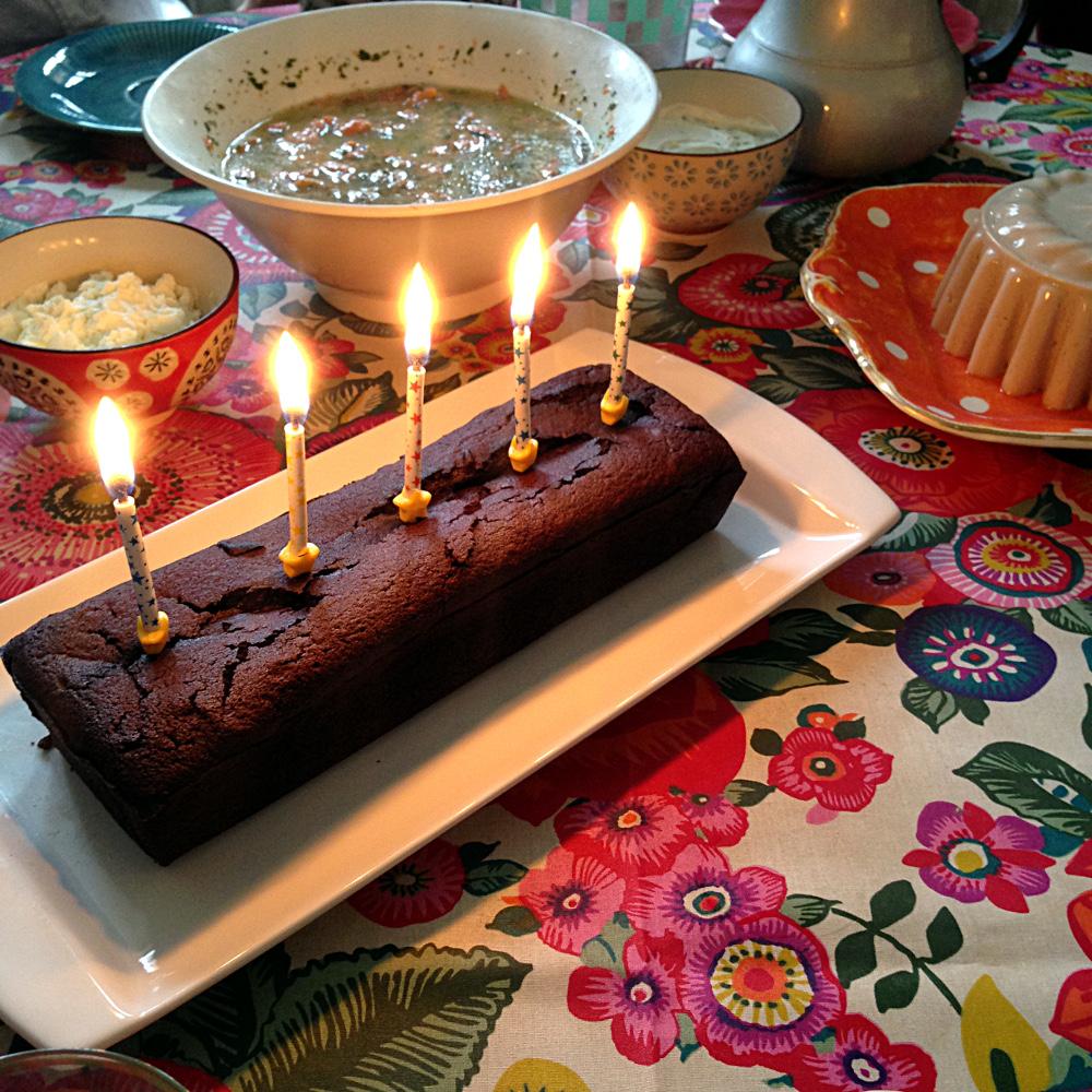 Dark Chocolate Fondant Birthday Cake, Ms. Adventures in Italy by Sara Rosso