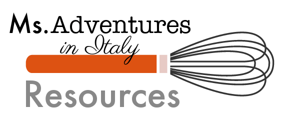 Ms. Adventures in Italy Resources Page