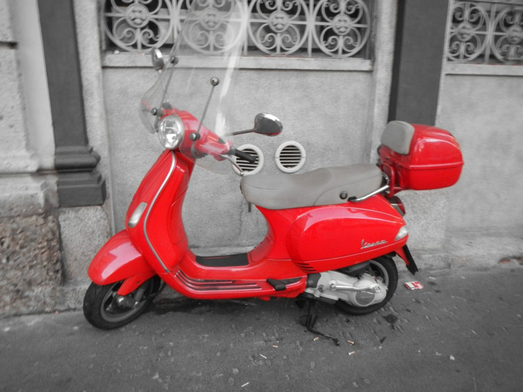 Red Vespa - WhimMagazine