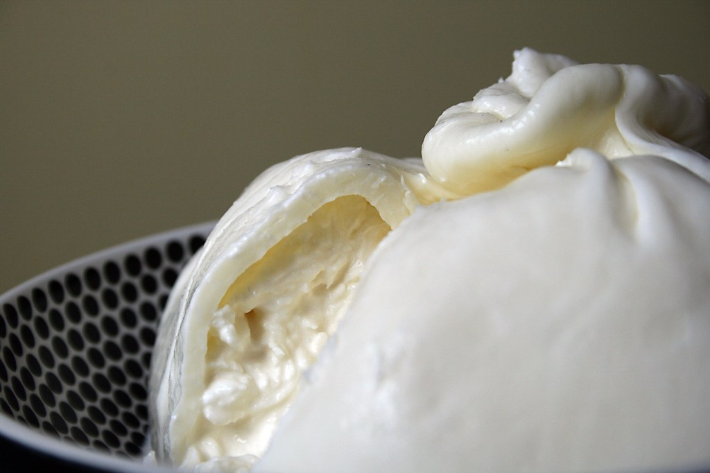 Inside a burrata, Ms. Adventures in Italy, by Sara Rosso
