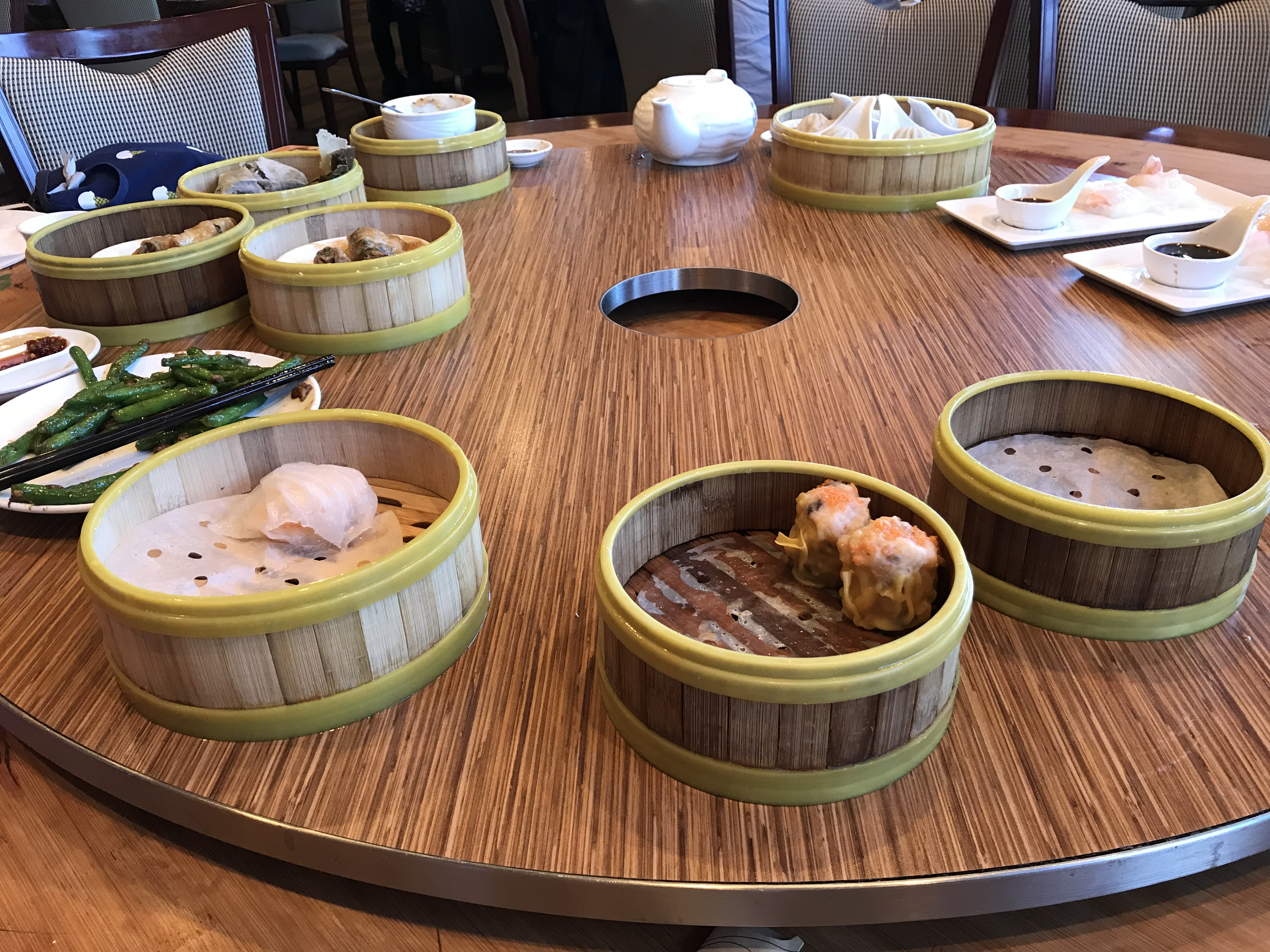Dim sum meal, Ms. Adventures in Italy, by Sara Rosso