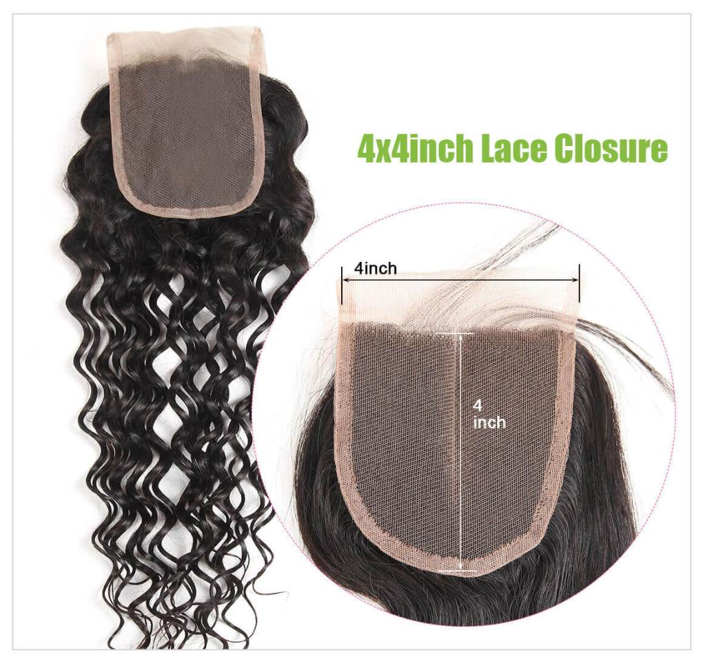 Water Wave Hair Lace Closure 6