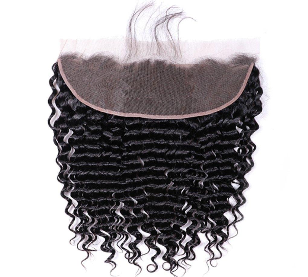 human hair deep wave 13x4 lace frontal
