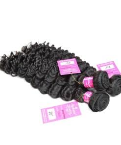 Deep Wave Human Hair Weave Bundles Deals 4