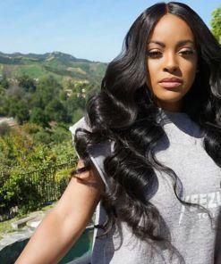 Brazilian Body Wave Hair 3 Bundles With Lace Frontal Virgin Human Hair