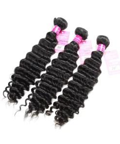 Deep Wave Human Hair Weave Bundles Deals 5