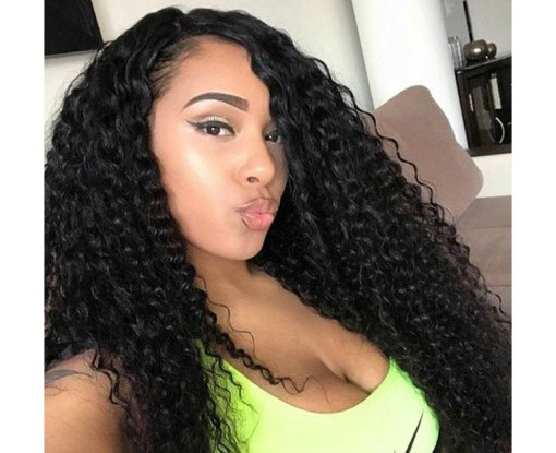 Peruvian Deep Wave Hair 4 Bundles With Lace Frontal Virgin Human Hair Weave Bundles Deals