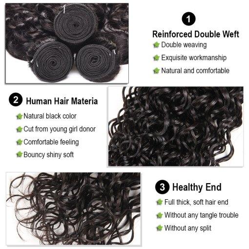Water Wave Hair Weave Bundles 3