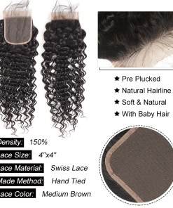 deep wave hair lace closure