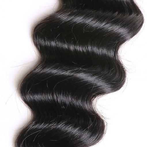 loose deep wave human hair bundles