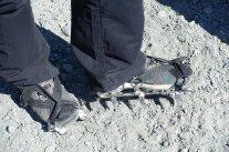Pour marcher sur le glacier, crampons obligatoires !