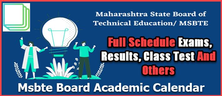 msbte academic calendar full time table