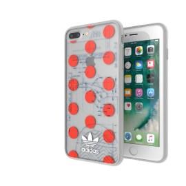 adidas Originals 70S Clear Case iPhone 8 Plus Red/White