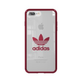 adidas Originals Clear Case iPhone 8 Plus Burgundy Logo