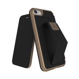 adidas Performance Folio Grip Case iPhone 8 Black/Gold Metallic