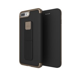 adidas Performance Folio Grip Case iPhone 8 Plus Black/Gold Metallic
